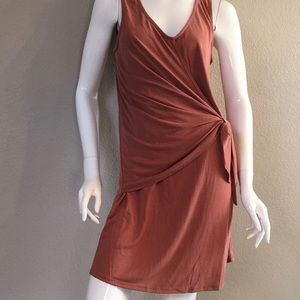NWT Mauve Front Wrap Mini Dress